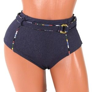 d5468b3678 Anne Cole Swim | Denim Days High Waist Bikini Bottom | Poshmark